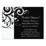 Black, White, Reverse Swirl Bridal Shower/ General Custom Invites