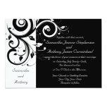 Black + White Reverse Swirl Wedding Invitations 13 Cm X 18 Cm Invitation Card