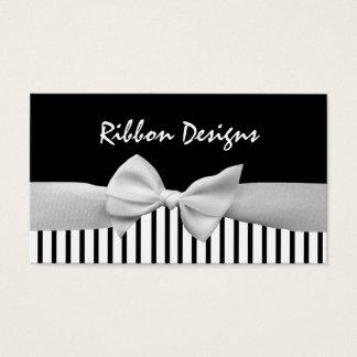 Black & white ribbon bow and stripes