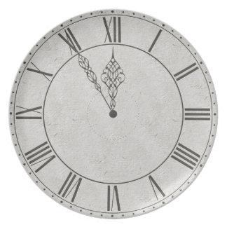 Black & White Roman Numeral Clock Face Plate