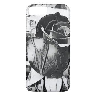 Black & White Rose iPhone 7 Plus Case