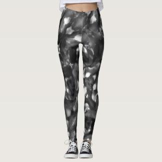 Black & White Rose Kaleidoscope Leggings