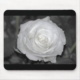 Black & White Rose Mouse Pad