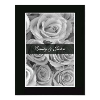 Black & White Rose Save the Date Invitation
