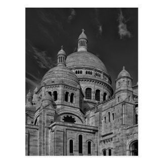 Black White Sacre Coeur Paris Europe Travel Postcard