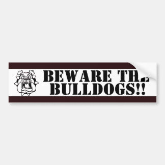 BLACK & WHITE SCHOOL COLORS BUMPER STICKER