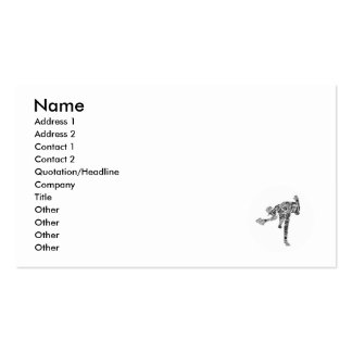 Black & White Scribble Pitcher Pack Of Standard Business Cards