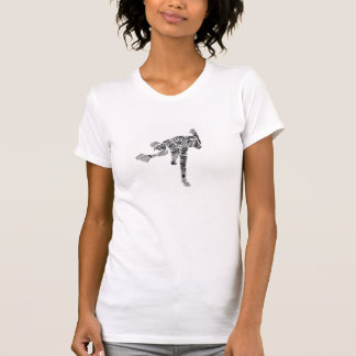 Black & White Scribble Pitcher Tee Shirts