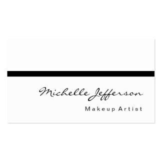 Black White Script Calligraphy Cute Business Card