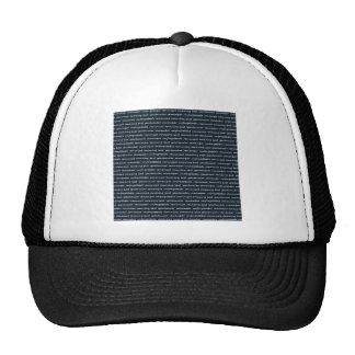 BLACK WHITE SCRIPT HANDWRITING ENCOURAGEMENT CHARA HATS