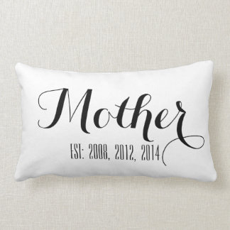 Black White Script | Mother's Day Pillow