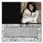 Black & White scroll customisable autograph poster
