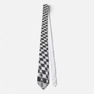 Black & White Shifting Squares Tie