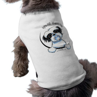Black/White Shih Tzu IAAM Sleeveless Dog Shirt