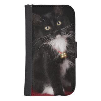 Black & white short-haired kitten,2 1/2 months galaxy s4 wallets