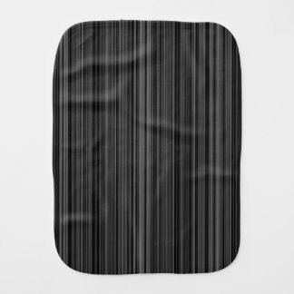 Black white silver grey  retro stripe burp cloth
