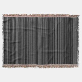 Black white silver grey retro stripe throw