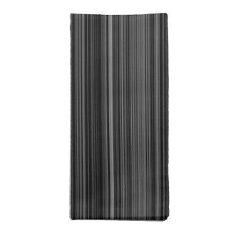 Black white silver grey stripe cloth napkin