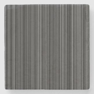 Black white silver grey stripe marble coaster