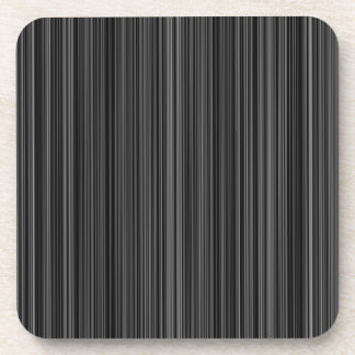 Black white silver grey stripe  set of coasters
