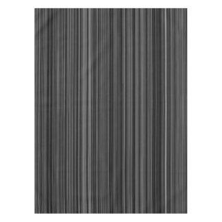 Black white silver grey stripe table cloth tablecloth