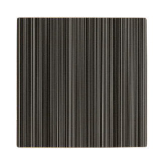 Black white silver grey stripe  wood coaster