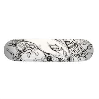 black White Skateboard Deck