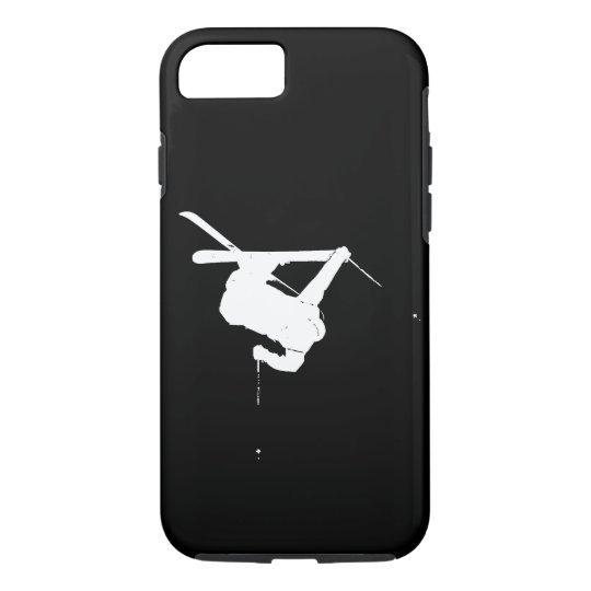 Black & White Skier iPhone 8/7 Case