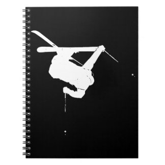 Black & White Skier Notebook