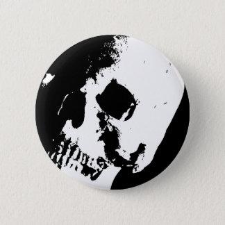 Black & White Skull 6 Cm Round Badge
