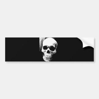 Black White Skull Bumper Sticker