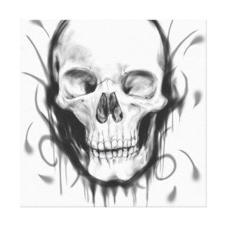 Black & White Skull Canvas