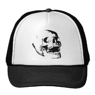 Black White Skull Cap