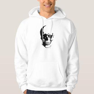 Black White Skull Fantasy Art Sweatshirts