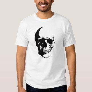 Black White Skull Fantasy Art T-Shirt