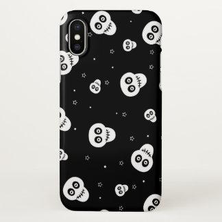 black white skull heads iPhone x case