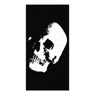 Black White Skull Photo Card