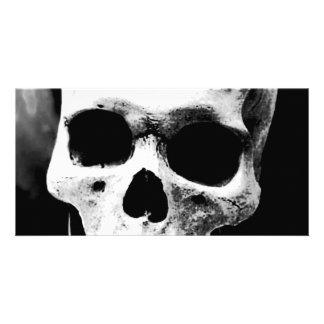 Black White Skull Custom Photo Card