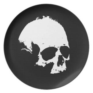 Black & White Skull Plate