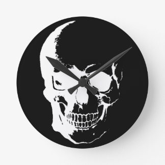 Black & White Skull Wall Clock