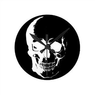 Black & White Skull Wall Clock