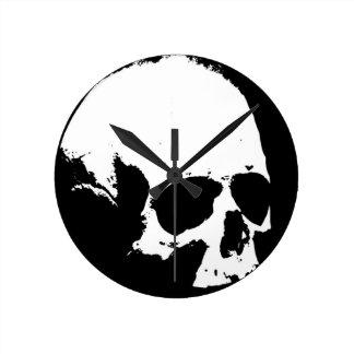 Black & White Skull Wallclock
