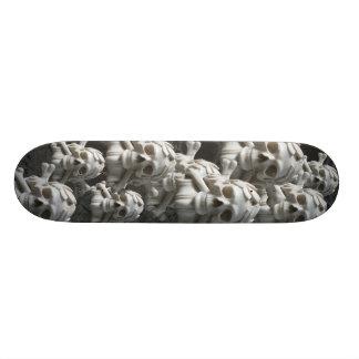Black White Skulls Bones Skeleton Skateboard