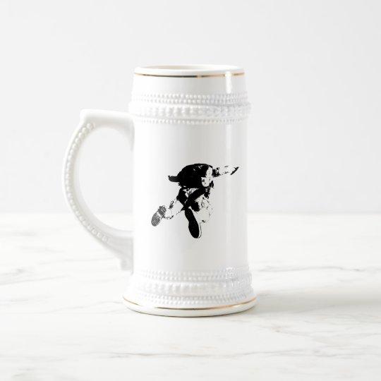 Black & White Skydiving Beer Stein