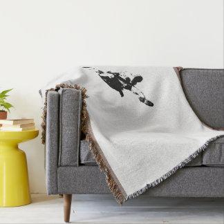 Black & White Skydiving Throw Blanket