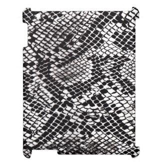 Black & White Snake Skin iPad Mini Case #1