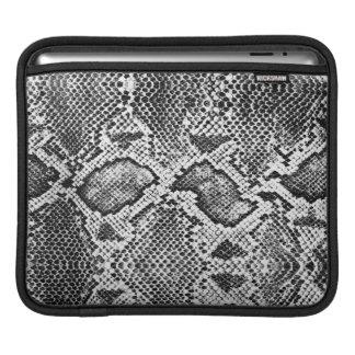 Black & White Snakeskin Pattern iPad Sleeve