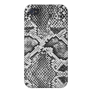 Black & White Snakeskin Pattern iPhone 4/4S Case