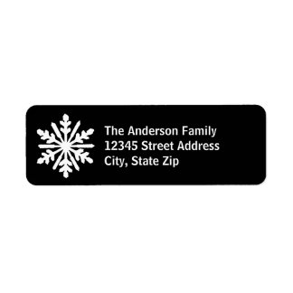 Black & White Snowflake - Address Label