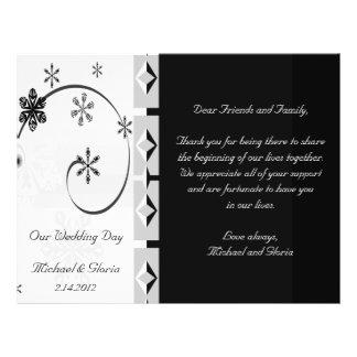 Black White Snowflake Wonderland Set Flyer Design